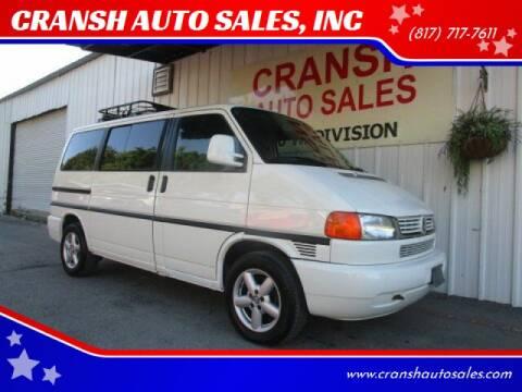 2000 Volkswagen EuroVan for sale at CRANSH AUTO SALES, INC in Arlington TX