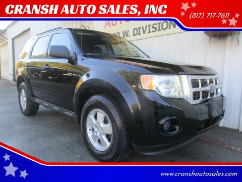 2010 Ford Escape for sale at CRANSH AUTO SALES, INC in Arlington TX