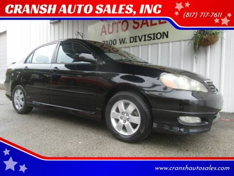 2008 Toyota Corolla for sale at CRANSH AUTO SALES, INC in Arlington TX