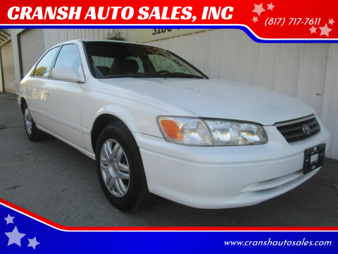 2000 Toyota Camry for sale at CRANSH AUTO SALES, INC in Arlington TX