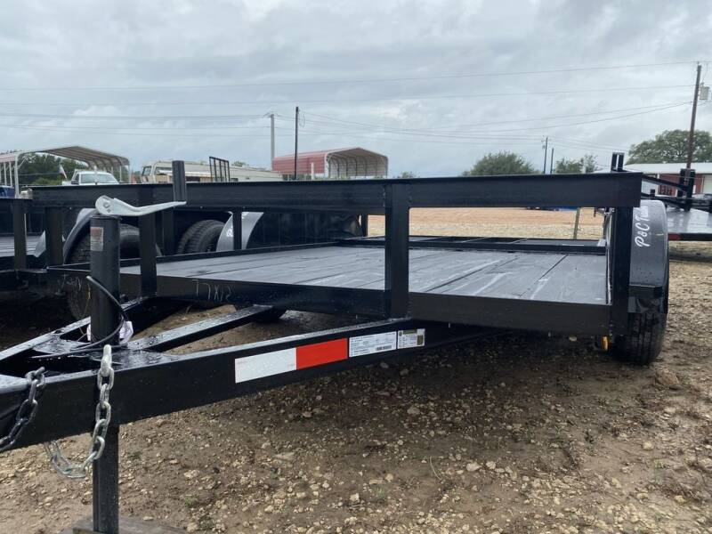 """2020 P & C - UTILITY 77""""X16' - GATE  for sale at LJD Sales in Lampasas TX"""