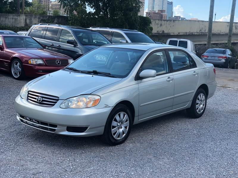 2003 Toyota Corolla For Sale At South Side Imports In Birmingham AL