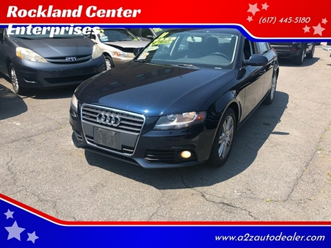 2011 Audi A4 for sale at Rockland Center Enterprises in Roxbury MA