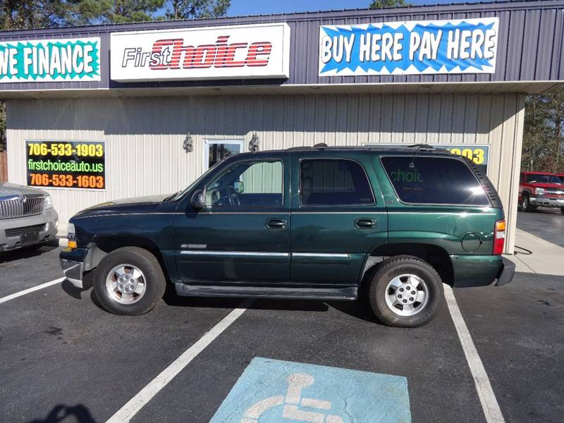 2001 CHEVROLET TAHOE LT green bumper color - chrome running boards front air conditioning fron