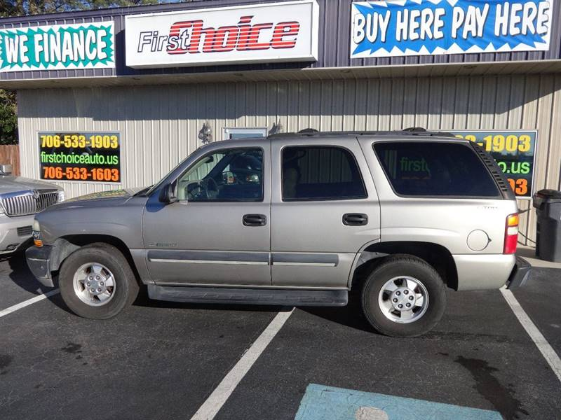 2003 CHEVROLET TAHOE LS champagne running boards front air conditioning front air conditioning
