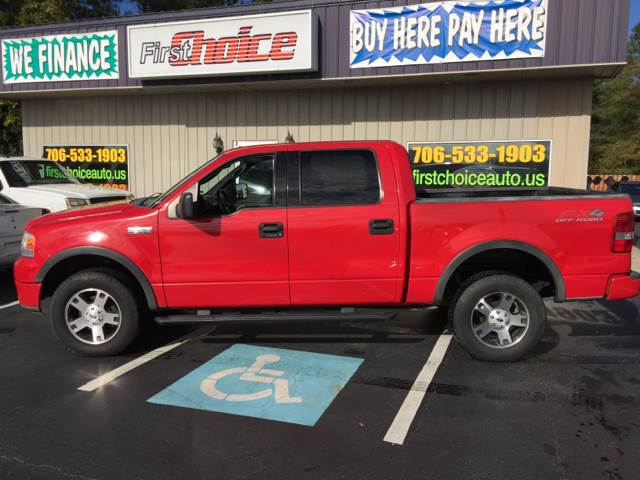2004 FORD F-150 FX4 red skid plates front air conditioning steering wheel trim - leather cru