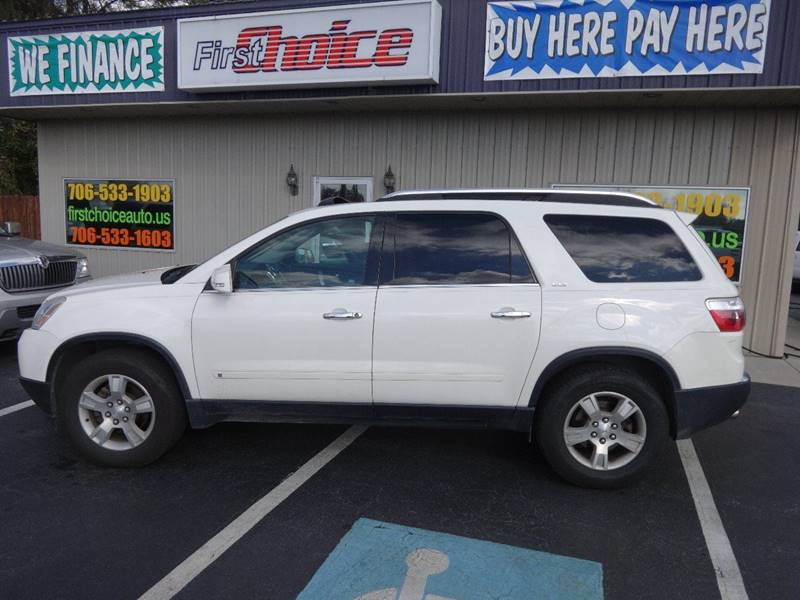 2009 GMC ACADIA SLT-1 white exhaust - dual tip body side moldings - body-color door handle colo