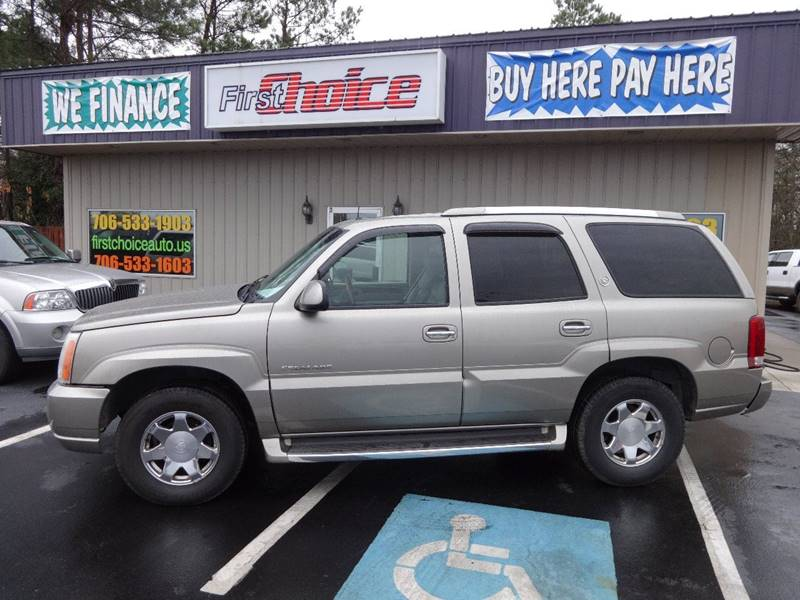 2002 CADILLAC ESCALADE BASE pewter trailer hitch running boards front air conditioning front a