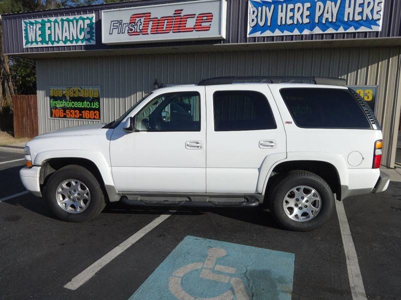 2006 CHEVROLET TAHOE Z71 white running board color - black grille color - body-color tow hooks