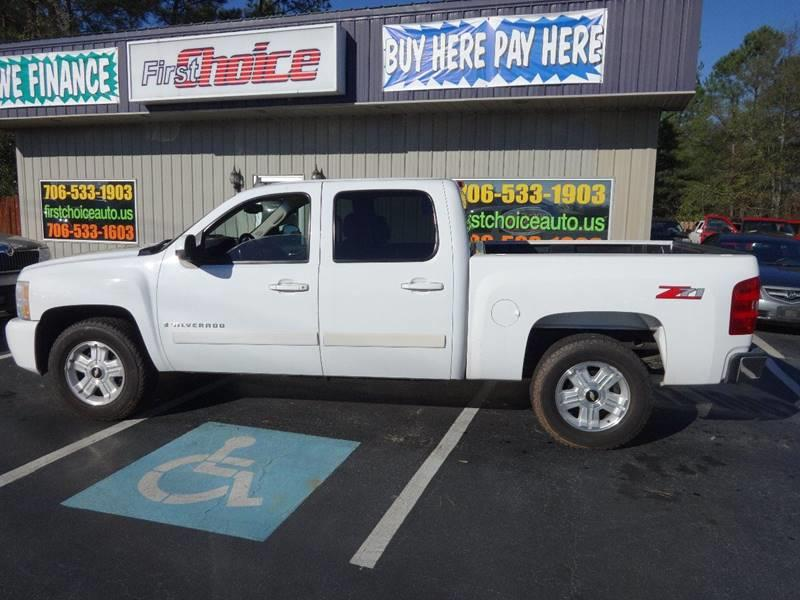 2007 CHEVROLET SILVERADO 1500 LTZ white bumper detail - painted grille color - chrome armrests