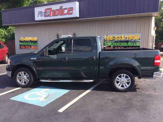 2004 FORD F-150 LARIAT 4DR SUPERCREW RWD STYLESI green front bumper color - chrome rear bumper c