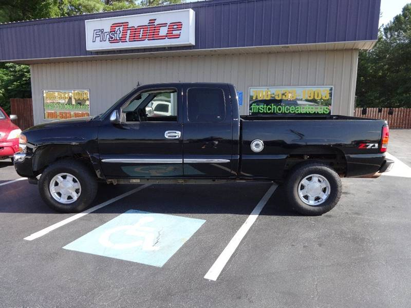 2006 GMC SIERRA 1500 SLE2 4DR EXTENDED CAB 4WD 65 FT black pickup bed light pickup bed type - f