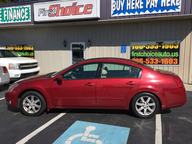 2005 NISSAN MAXIMA 35 SL 4DR SEDAN red abs - 4-wheel anti-theft system - alarm cassette cd ch