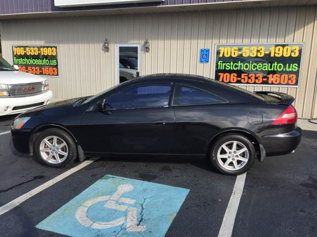 2003 HONDA ACCORD EX V-6 2DR COUPE black abs - 4-wheel anti-theft system - alarm center console