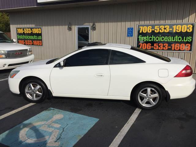 2003 HONDA ACCORD EX WLEATHER 2DR COUPE WLEATHER white abs - 4-wheel anti-theft system - alarm