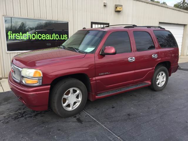 2004 GMC YUKON DENALI AWD 4DR SUV burgundy trailer hitch running boards front air conditioning