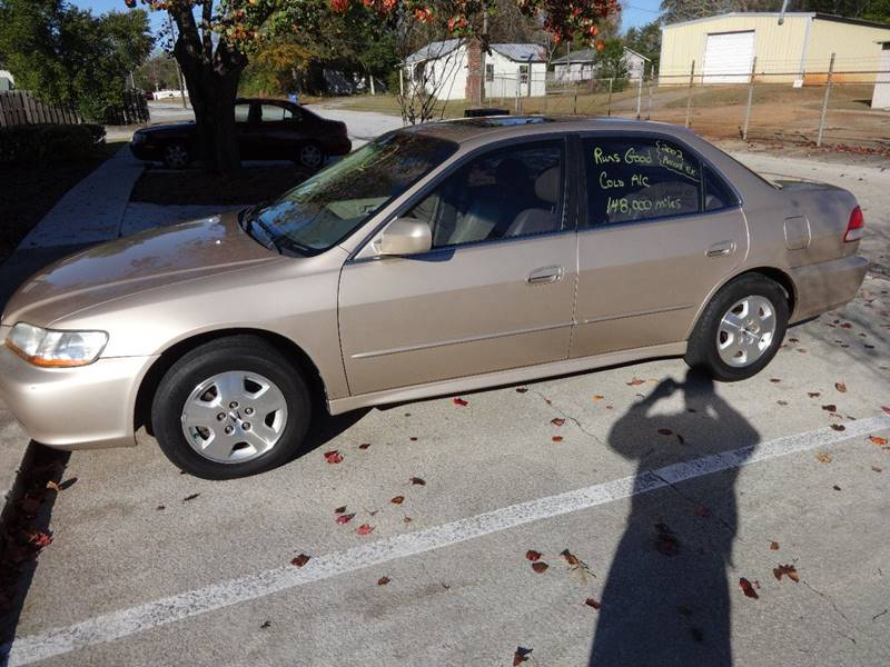 2002 HONDA ACCORD EX V-6 4DR SEDAN gold 2002 honda accord ex- l v6 automatic leather sunroof only