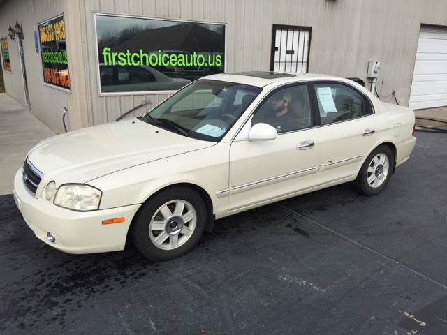 2005 KIA OPTIMA EX 4DR SEDAN white front air conditioning - automatic climate control front air