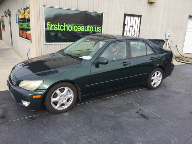 2001 LEXUS IS 300 BASE 4DR SEDAN green front air conditioning front air conditioning - automatic