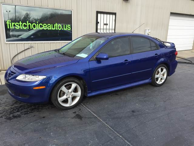 2005 MAZDA MAZDA6 I SPORT 4DR HATCHBACK blue rear spoiler front air conditioning front air cond