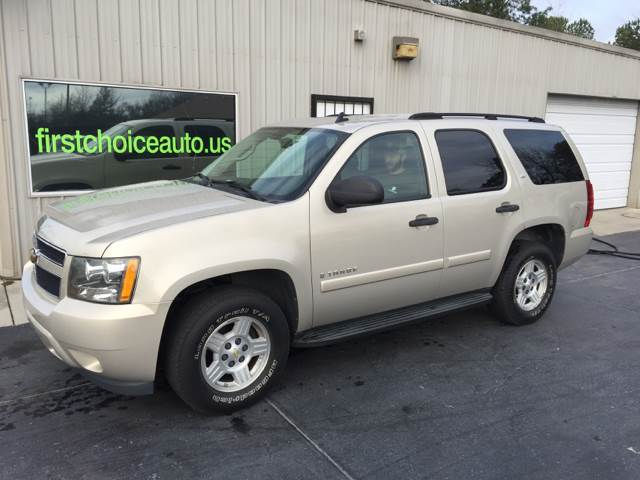 2007 CHEVROLET TAHOE LS 4DR SUV gold running boards - step trailer hitch armrests - rear foldin