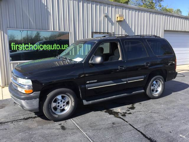 2003 CHEVROLET TAHOE LS 4WD 4DR SUV black running boards front air conditioning front air condi