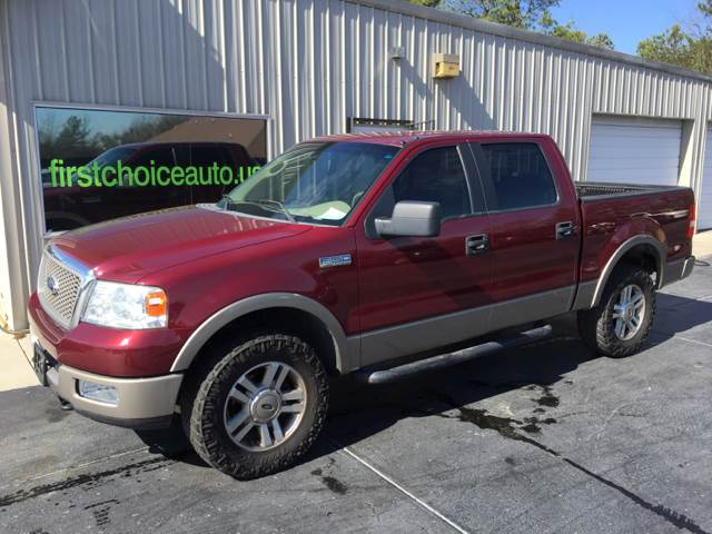 2005 FORD F-150 LARIAT 4DR SUPERCREW 4WD STYLESI burgundy front bumper color - chrome rear bumpe