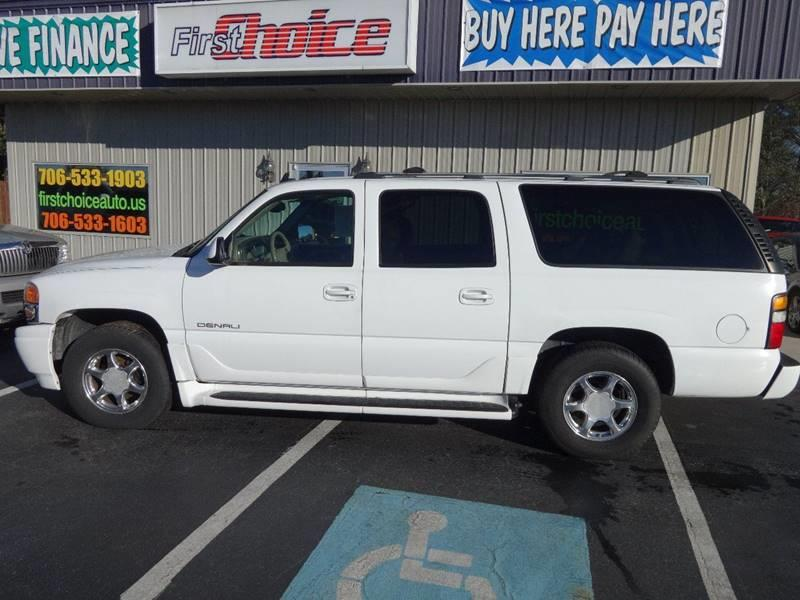 2003 GMC YUKON XL DENALI AWD 4DR SUV white trailer hitch running boards front air conditioning