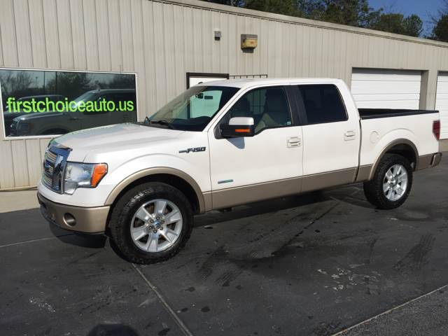 2011 FORD F-150 LARIAT 4X2 4DR SUPERCREW STYLESI white fully loaded ecoboost v6 auto heated and co