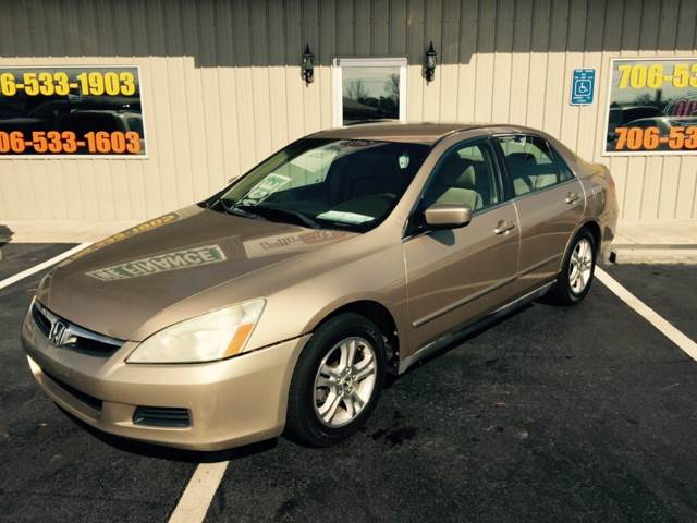 2006 HONDA ACCORD LX 4DR SEDAN gold buy here pay here air conditioning power windows power lo