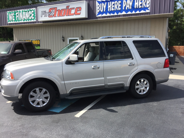 2004 LINCOLN NAVIGATOR LUXURY 4WD 4DR SUV silver abs - 4-wheel adjustable pedals - power air su