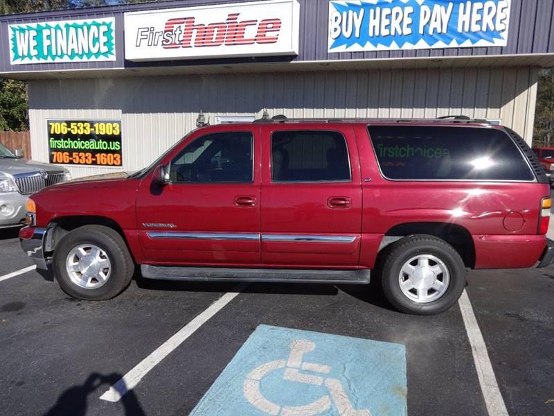2004 GMC YUKON XL 1500 SLT 4DR SUV maroon 17 inch wheels 53l v8 ohv 16v fi engine abs - 4-whee