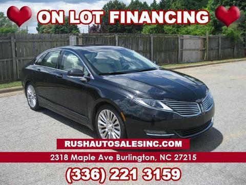 2013 Lincoln Mkz For Sale >> Lincoln Mkz For Sale In Burlington Nc Rush Auto Sales
