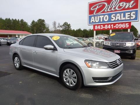 2012 Volkswagen Passat for sale in Dillon, SC