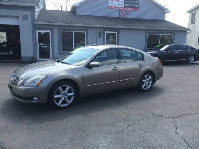 2004 Nissan Maxima 35 Se 4dr Sedan In Spencerport Ny Petes Auto