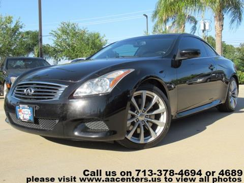 2009 Infiniti G37 Convertible for sale in Houston, TX