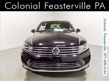 2017 Volkswagen Touareg for sale in Feasterville Trevose, PA