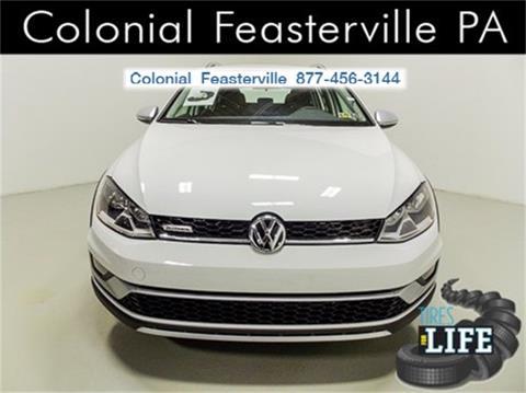 2017 Volkswagen Golf Alltrack for sale in Feasterville Trevose, PA