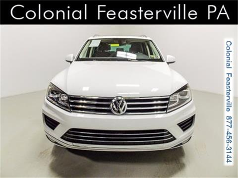 2015 Volkswagen Touareg for sale in Feasterville Trevose, PA