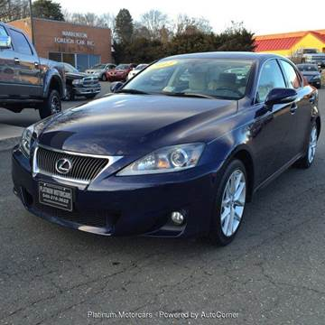 2012 Lexus IS 250 for sale at Platinum Motorcars in Warrenton VA