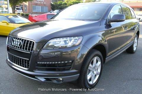 2012 Audi Q7 for sale at Platinum Motorcars in Warrenton VA