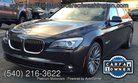 2012 BMW 7 Series for sale at Platinum Motorcars in Warrenton VA