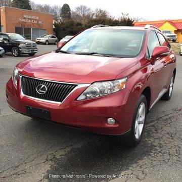 2012 Lexus RX 350 for sale at Platinum Motorcars in Warrenton VA