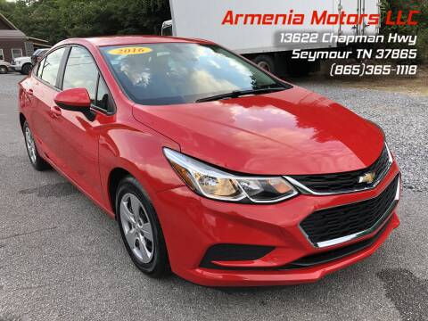 2016 Chevrolet Cruze for sale at Armenia Motors in Seymour TN