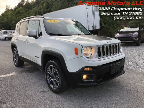 2016 Jeep Renegade for sale at Armenia Motors in Seymour TN