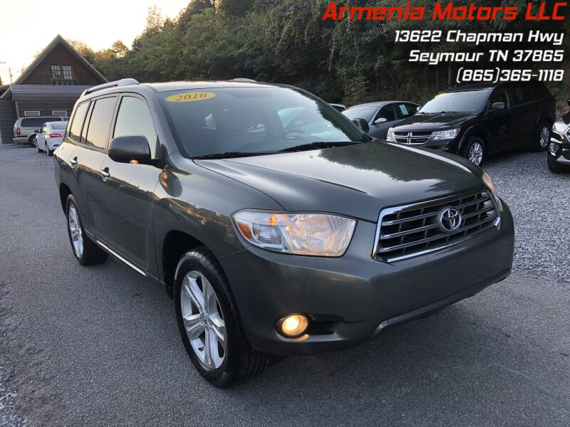 2010 Toyota Highlander for sale at Armenia Motors in Seymour TN