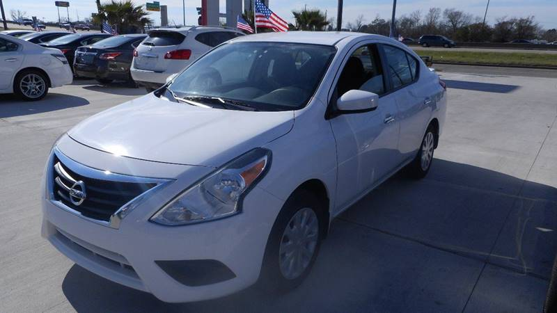 2015 NISSAN VERSA 16 S 4DR SEDAN 4A white shipping nationwide 100 down to take delivery wac s