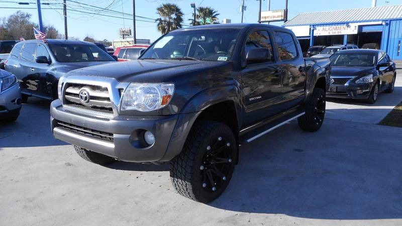 2009 TOYOTA TACOMA PRERUNNER V6 4X2 4DR DOUBLE CAB gray tailgate - removable bumper color - blac