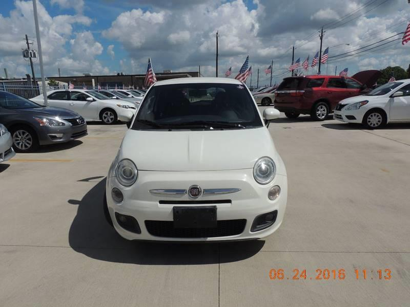 2012 FIAT 500 SPORT white happycustomershappyemployeeshappybanks100 down   national shipping a