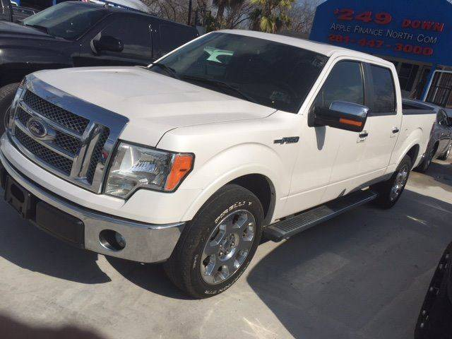 2011 FORD F-150 LARIAT 4X2 4DR SUPERCREW STYLESI white super clean leather moonroof navev